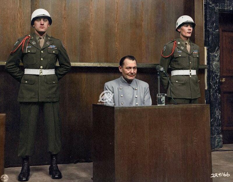 Герман Геринг на Нюрнбергском процессе
