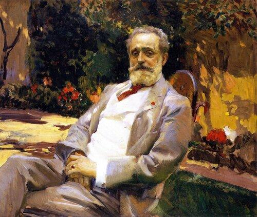 _Joaquín Sorolla y Bastida, 1863-1923. Портрет художника Раймундо де Мадрасо-и-Гаррета. 1906. 97.5 х 114.2 см. Нью-Йорк, Испанское общество в Америке.jpg