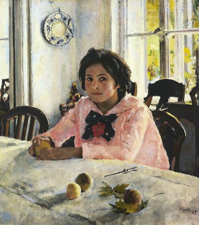 Вера Мамонтова, Девочка с персиками
