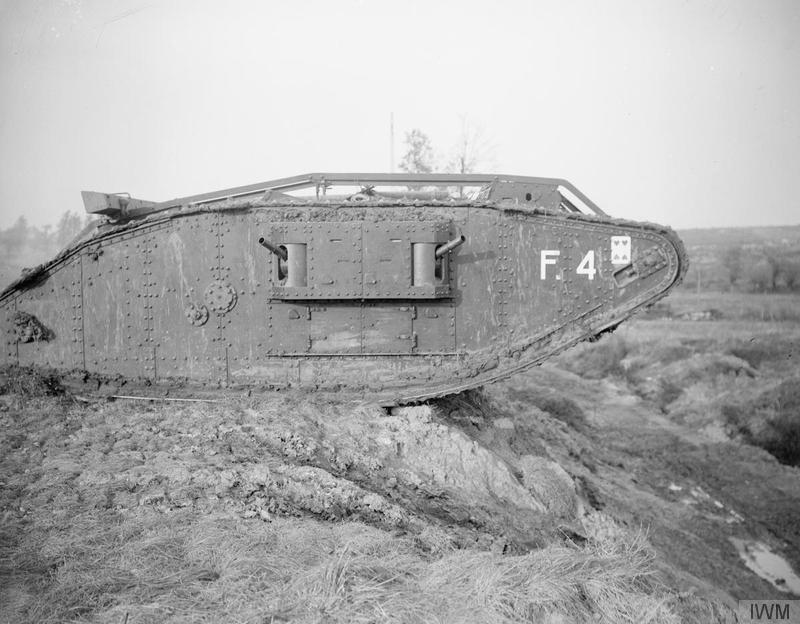 Tank F4 at the Tank Driving School during the special training for the Battle of Cambrai at Wailly, 21 October 1917.