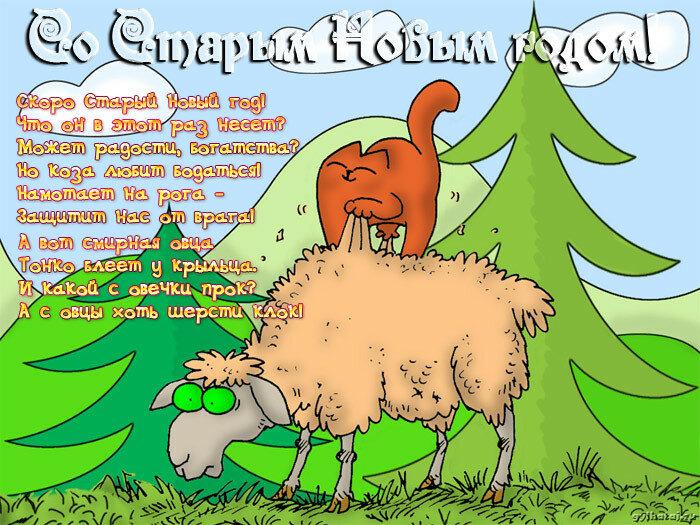 Открытки юбилеем, смешные картинки со старым новым годом с надписями