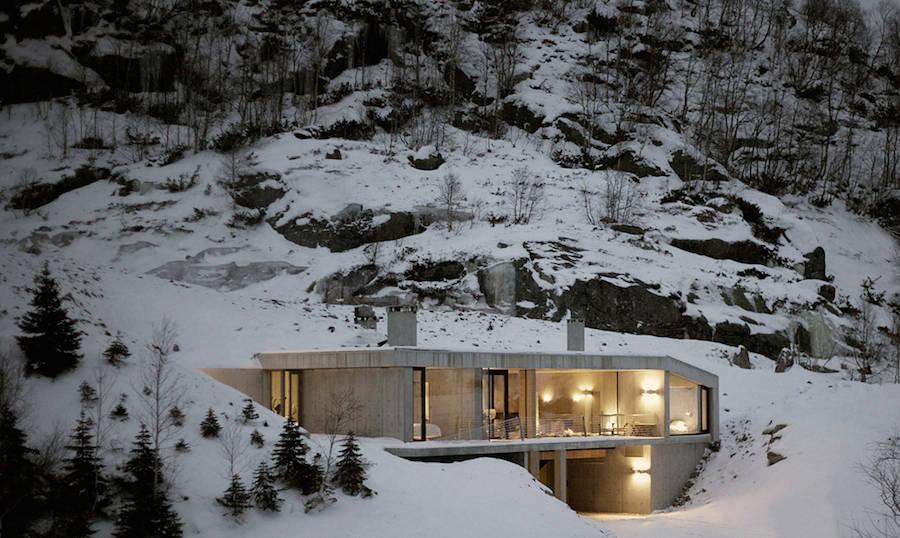 Дом на склоне в Норвегии (9 фото)