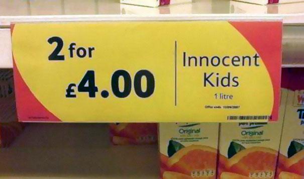 Невинные дети, 2 за 4 фунта.