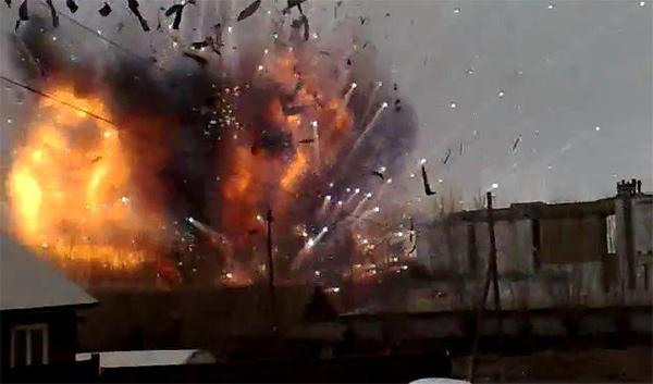 ВХарьковской области обстреляли дом, предположительно, изгранатомета