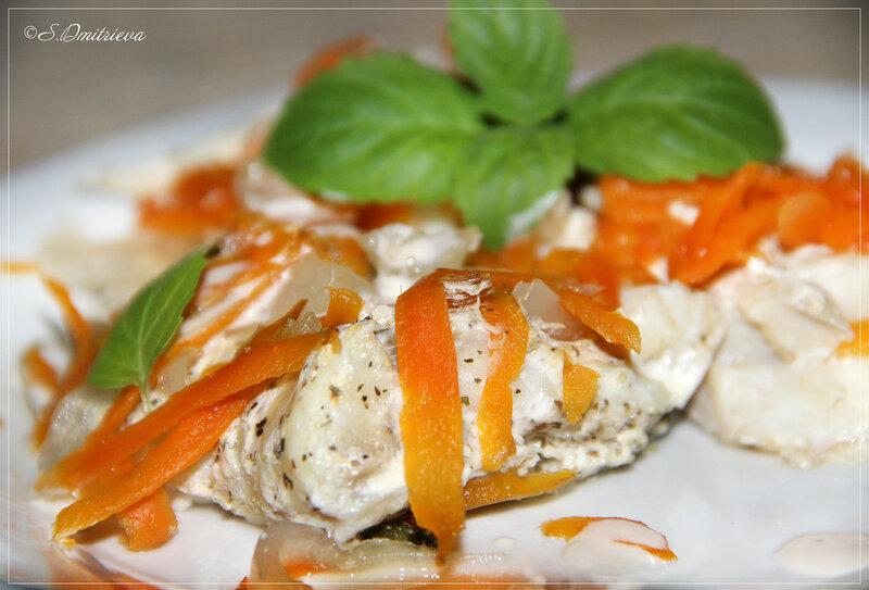 Рыба на пару с мятой под овощами в МВ.jpg
