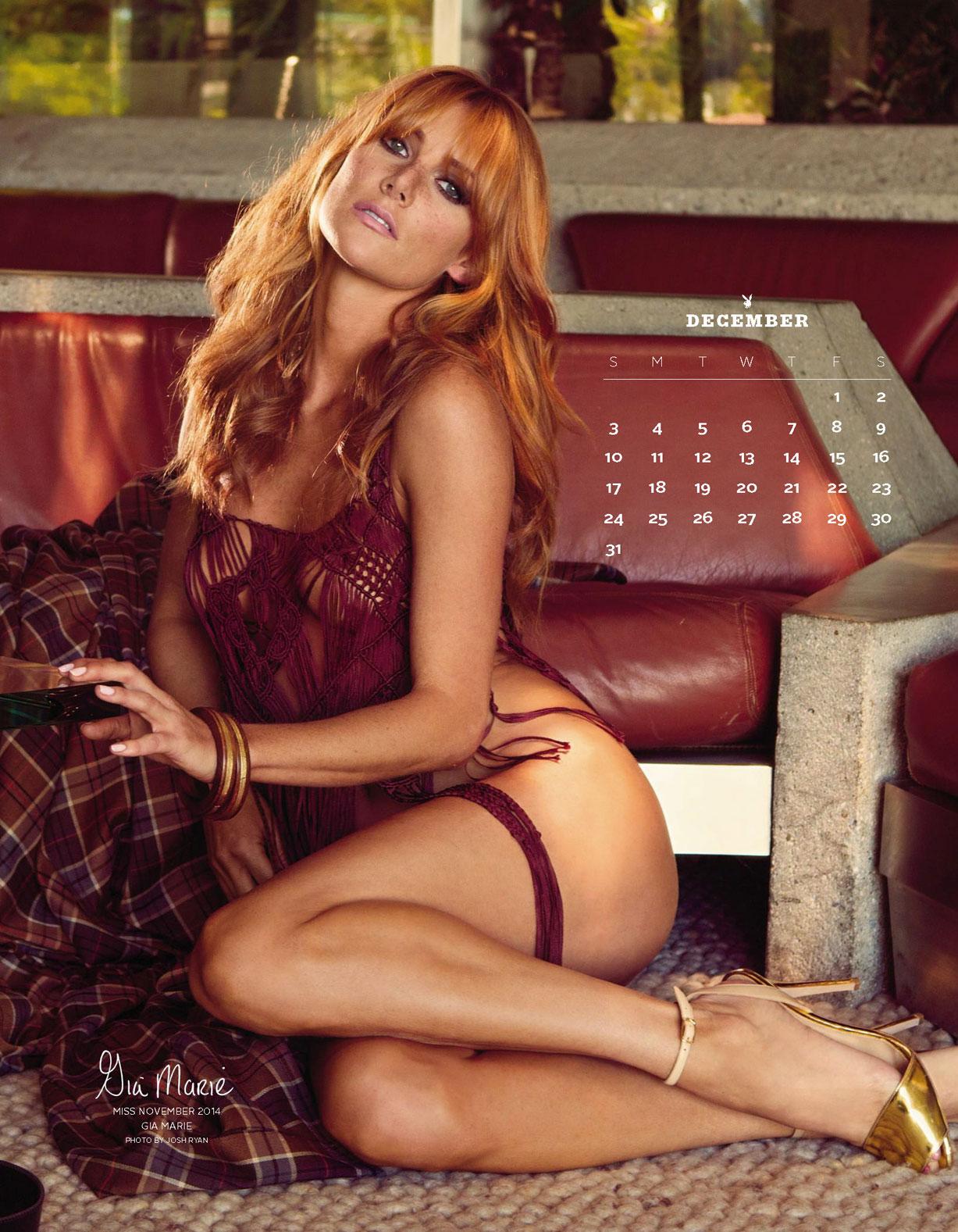 Playboy US Playmates 2017 calendar - Miss November 2014 Gia Marie / Джиа Мари – Девушка месяца ноябрь 2014 журнала Плейбой США