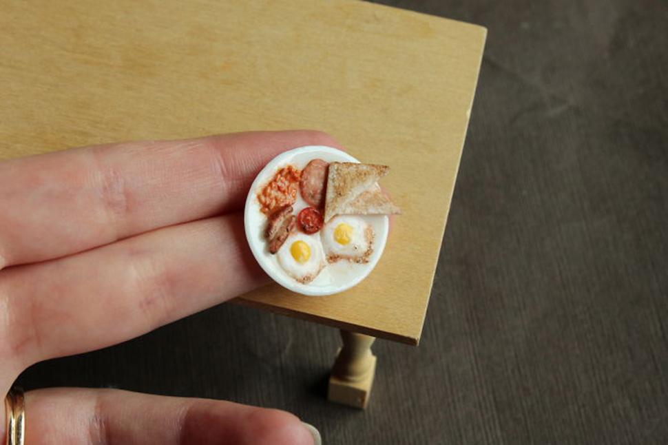 мини-еда из глины