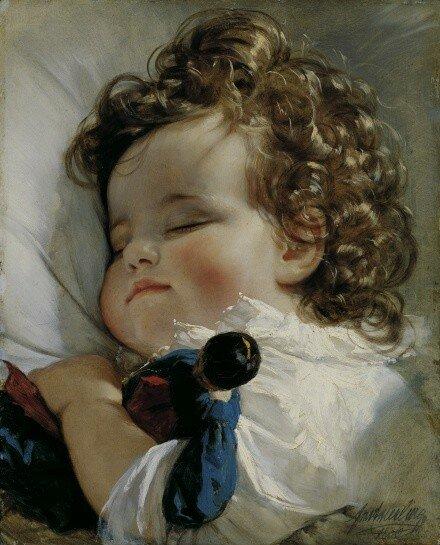 amerling_ Prinzessin Marie Franziska von Liechtenstein (1834-1909) im Alter von zwei Jahren, 1836.jpg