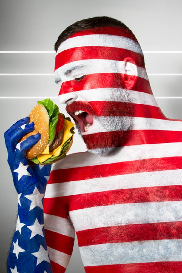 Fat Flag – Body Painting, Flags and culinary cliches (5 pics)