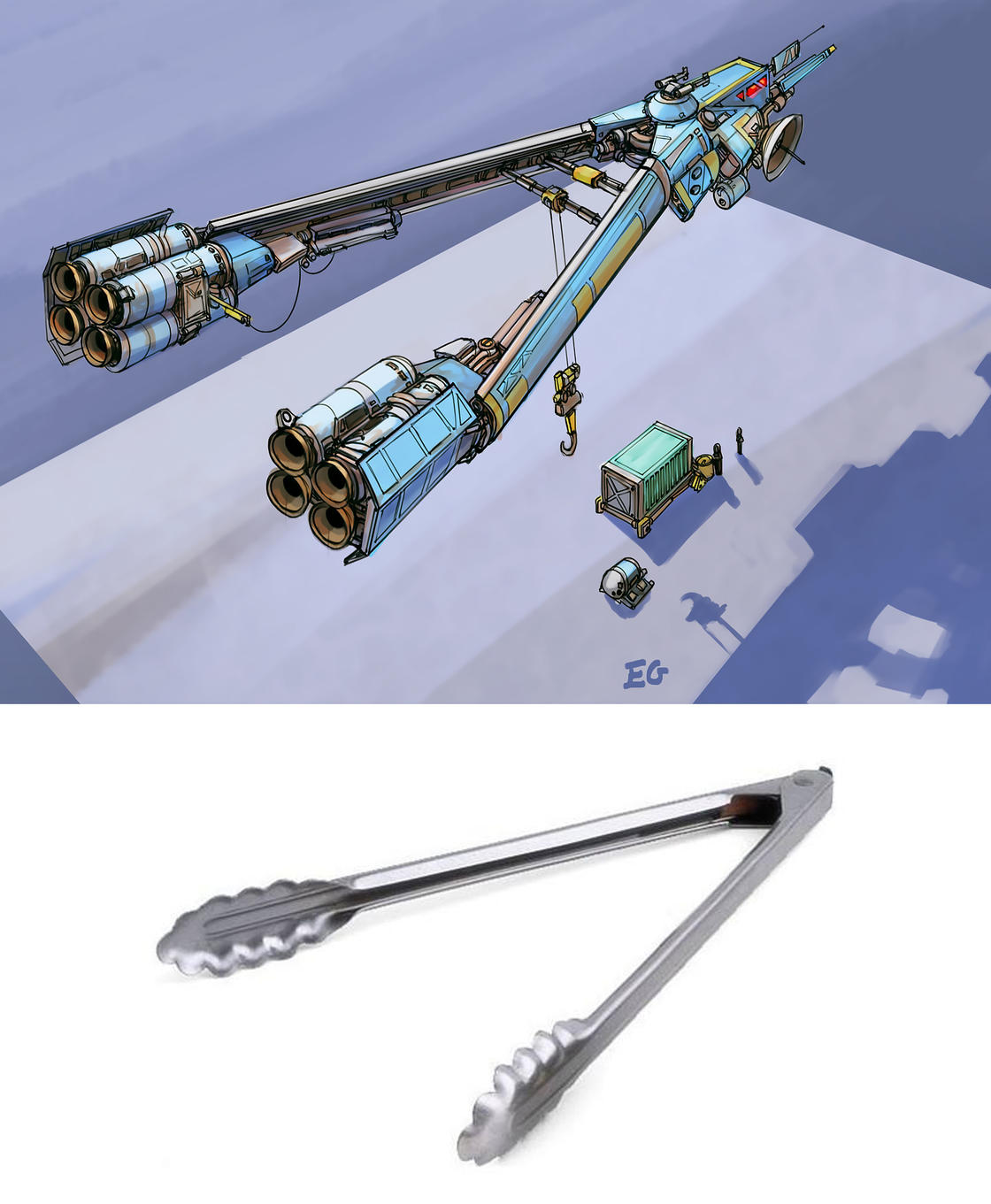 Cet illustrateur transforme les objets du quotidien en vaisseaux futuristes