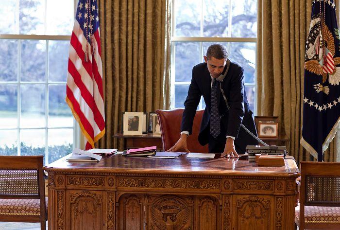 Барак Обама Дональд Трамп президент США Фотография