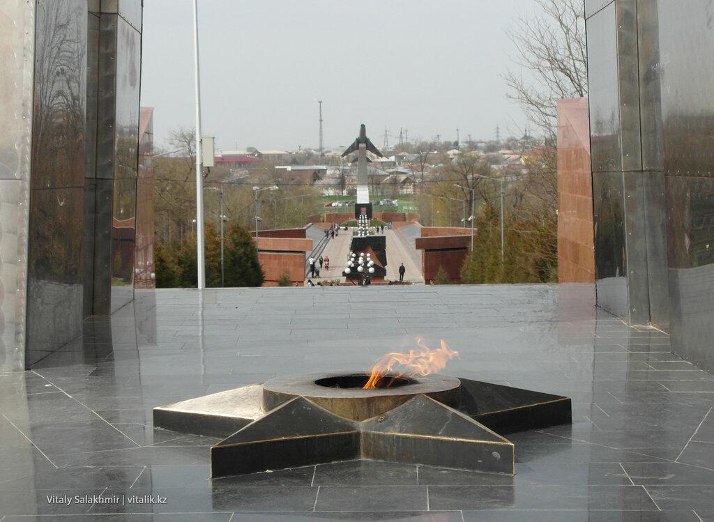 Вечный огонь Шымкент Парк Абая