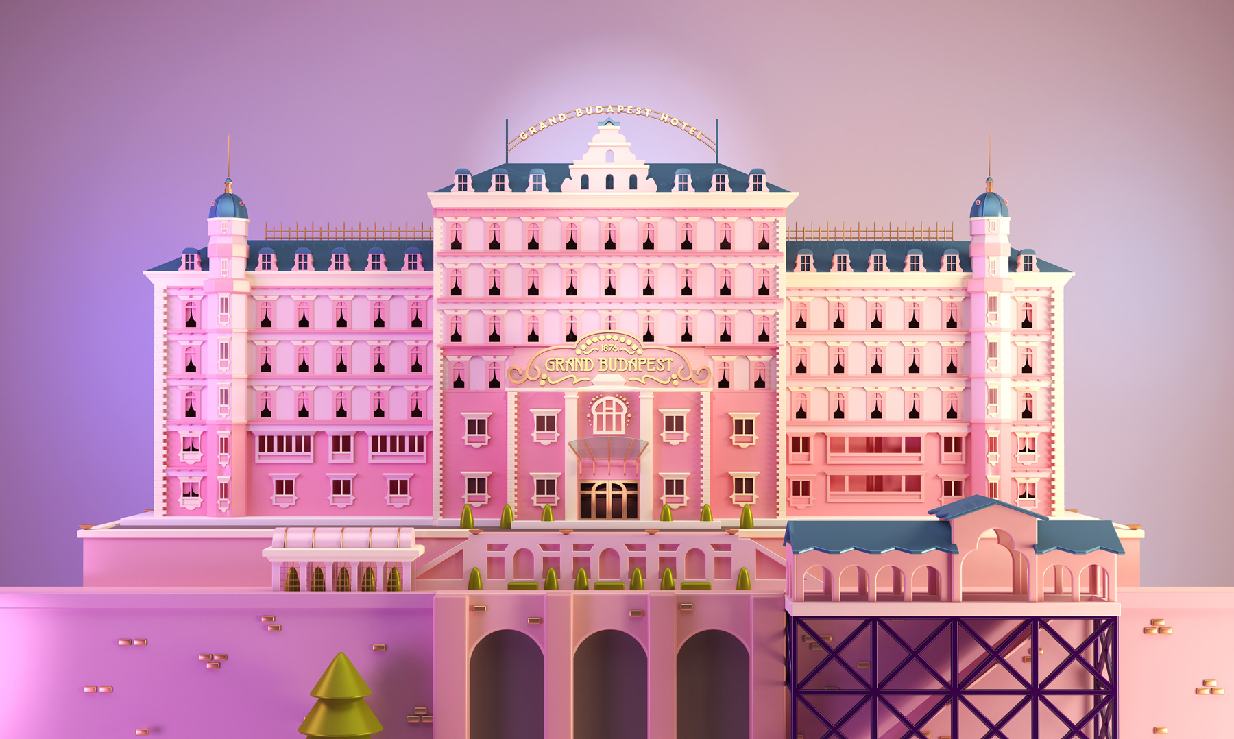 Charming Illustration Tribute to Wes Anderson