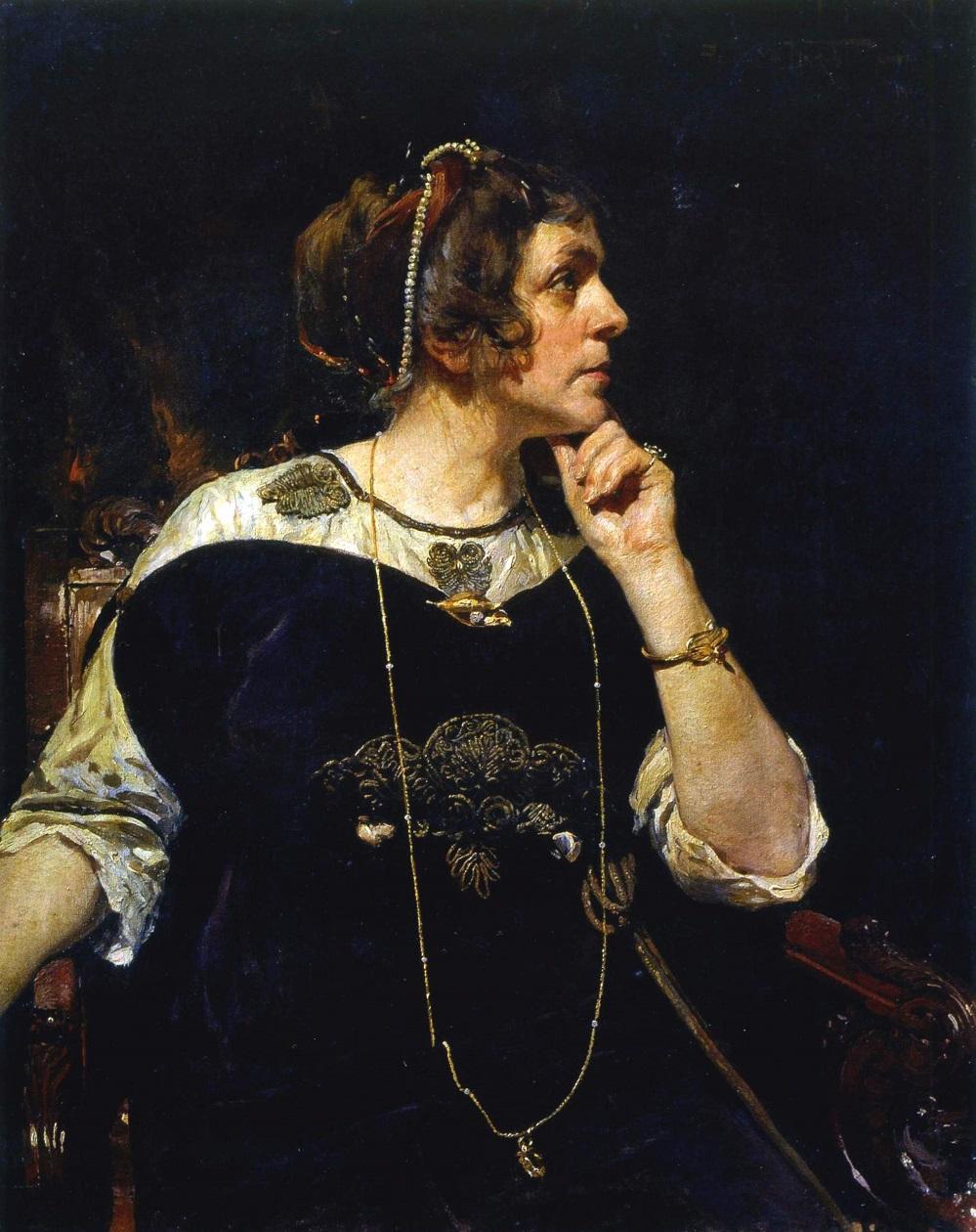 Задумчивость (Портрет Мейер). 1913.