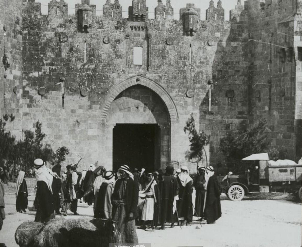 Иерусалим. Дамасские ворота, увиденные с севера