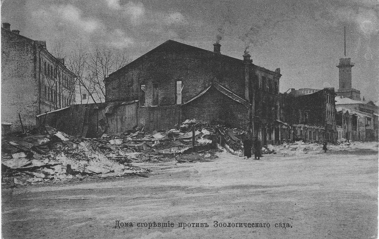 Дома, сгоревшие против Зоологического сада