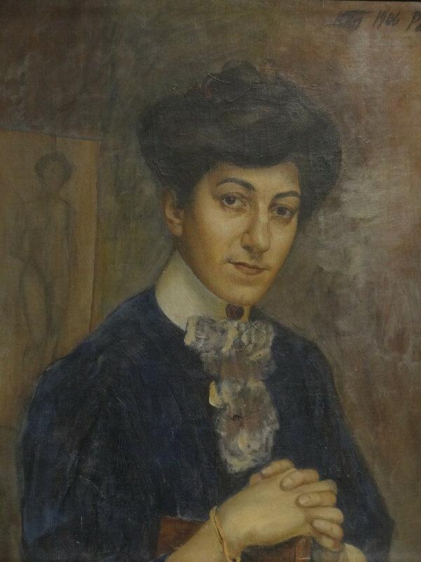 Кузьма Петров-Водкин Портрет жены. 1906 Художественный музей Эстонии1.JPG