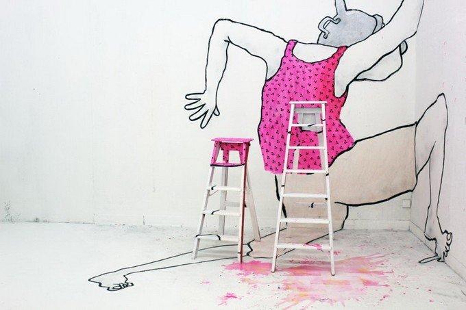 Ella & Pitr — дуэт французских уличных художников, в творчестве которых преобладают оптические иллюзии