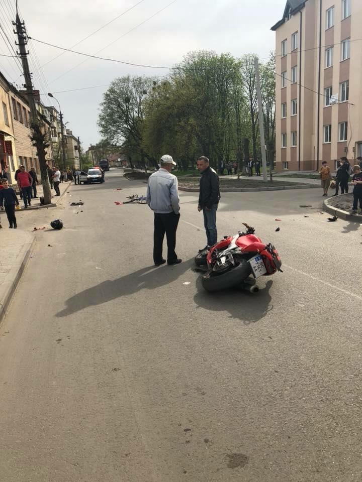 Мото аварии в городе Броды (видео)