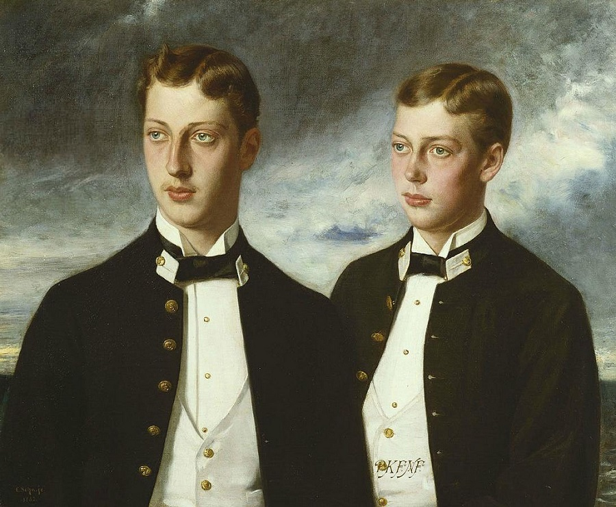 PRINCE ALBERT VICTOR AND PRINCE GEORGE OF BRITAIN.