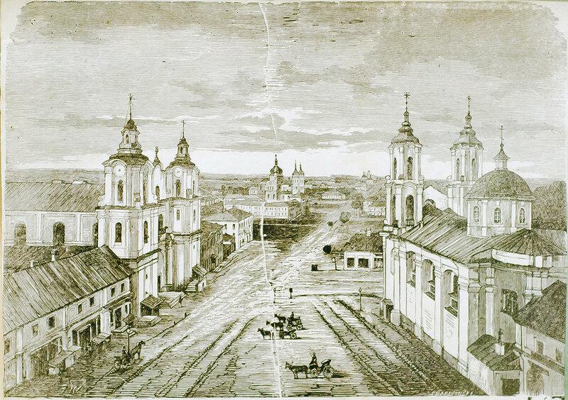 1873 Viciebsk, Rynak. Віцебск, Рынак (S. Baranoŭski, 1873).jpg