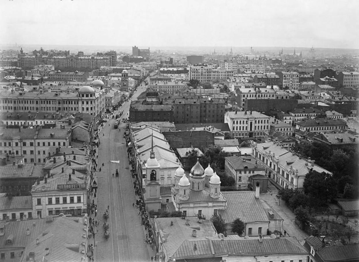 Сретенка с Сухаревой башни. 1914