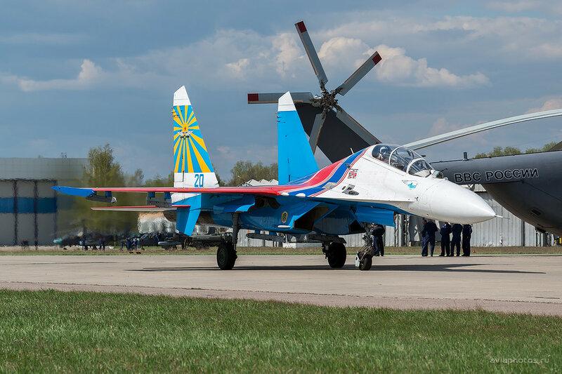 Сухой Су-27УБ (20 синий) ВКС России D803313