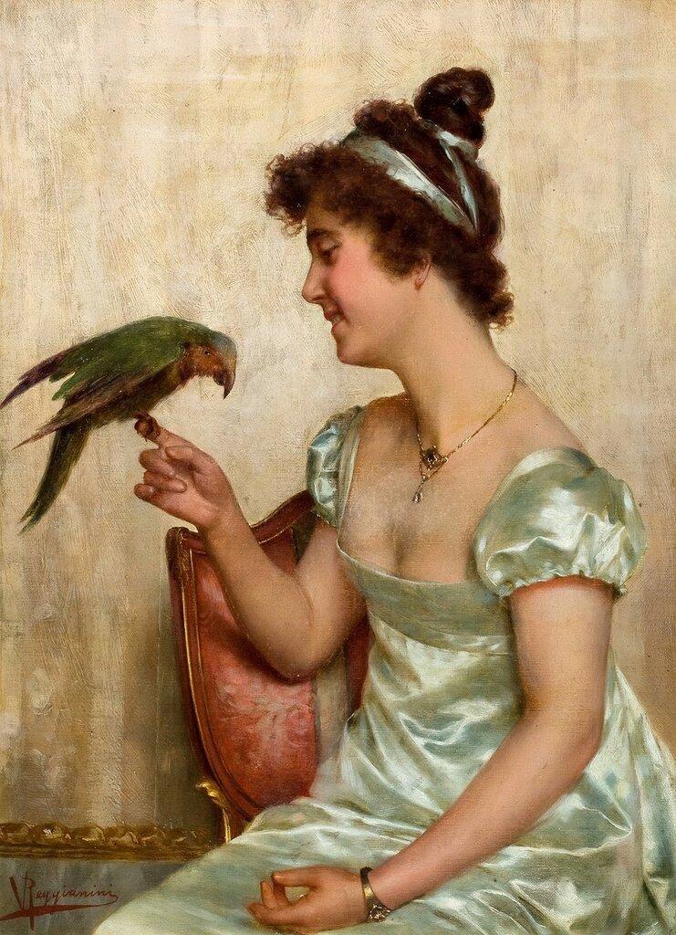 Девушка с попугаем_х.,м._Частное собрание.jpg