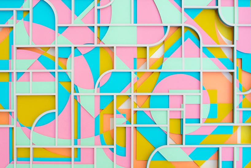Слоенные пейзажи из цветной бумаги от Maud Vantours