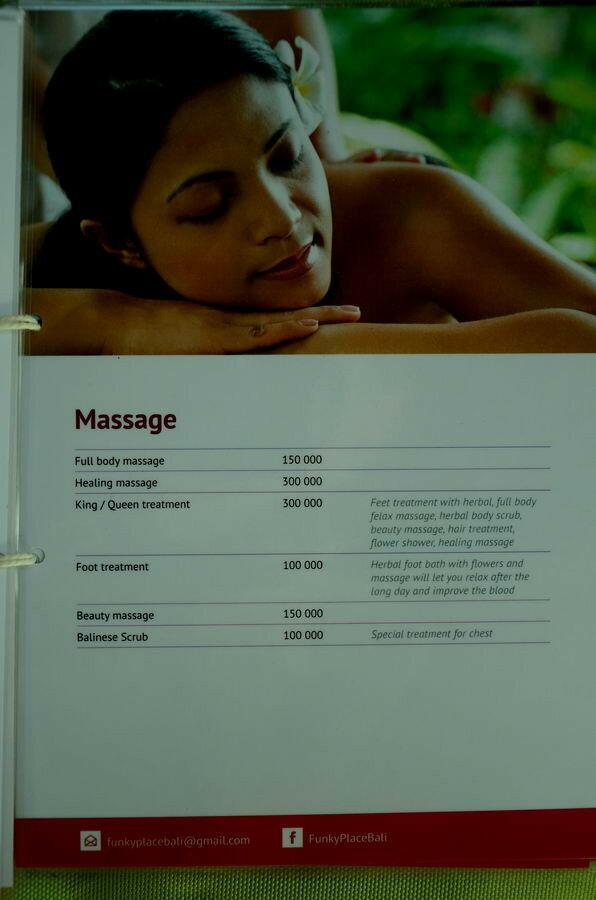 Расценки на массаж