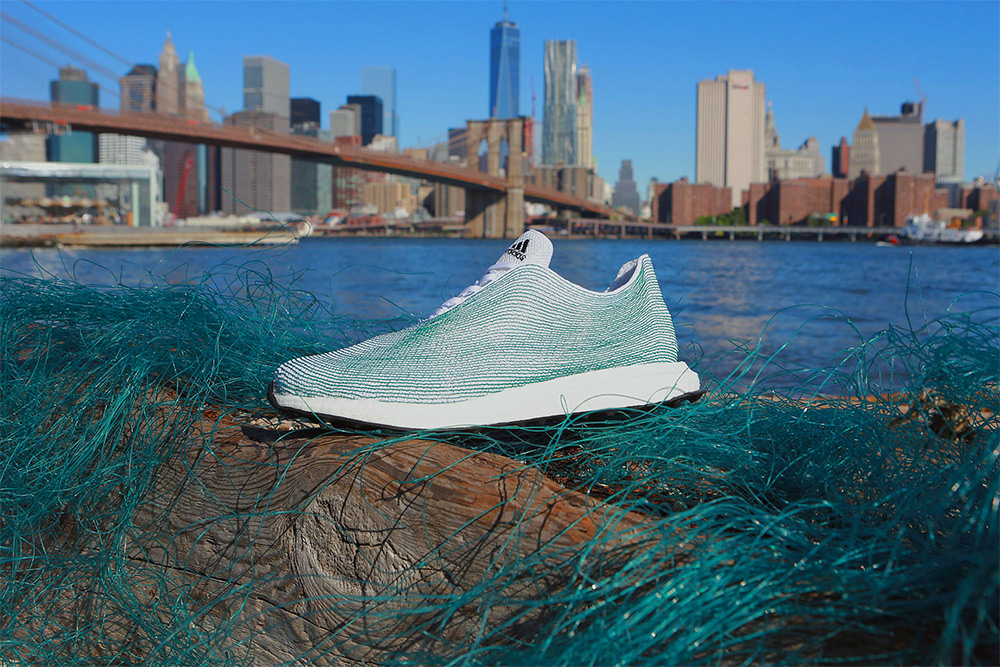 Discarded Plastic Fishing Nets Retrieved from the Ocean Used in New Shoe Prototype