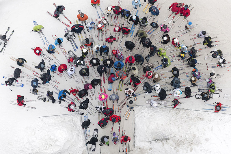 An overhead view, from the skies above Poland. © Kacper Kowalski, 2014 Sony World Photography A
