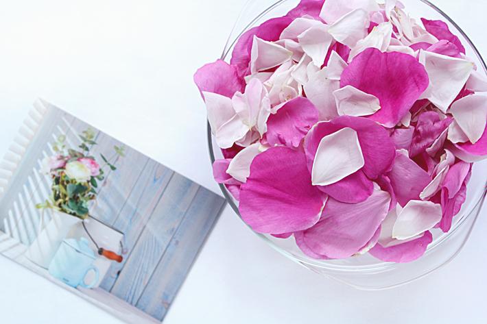 Как сделать розовые лепестки 255