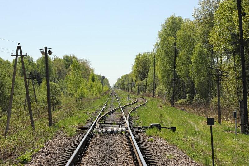 Путевое развитие станции Рождествено, вид на Вязьму