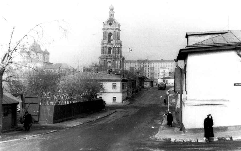 66403 Вид из 4-го Крутицкого переулка на Новоспасский монастырь 50-е Молчанов.jpg