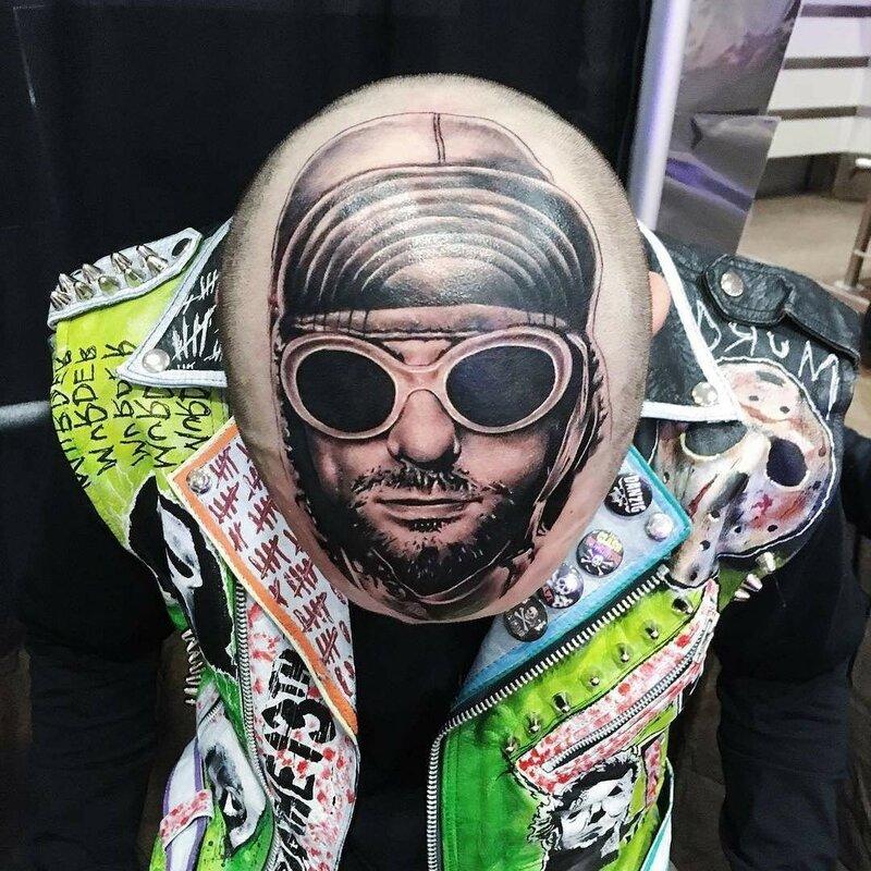 Татуировки с рок музыкантами.