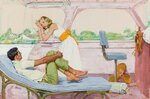 1960, октябрь_Десятый пассажир (The Tenth Passenger, Saturday Evening Post illustration)_50.8 х 76.2_картон, гуашь_Частное.jpg