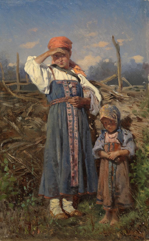 Две крестьянки, 1877.