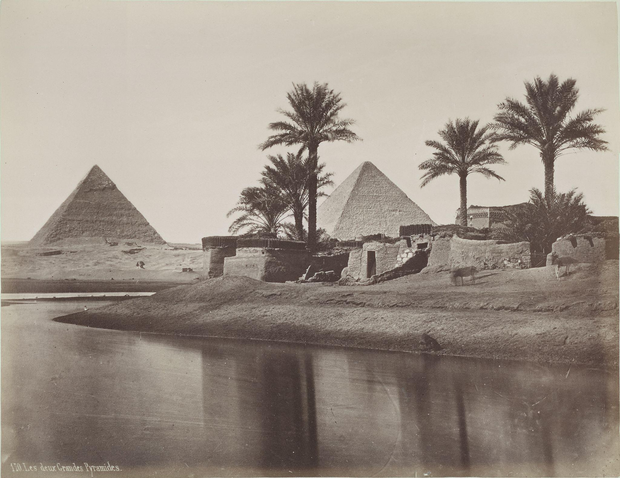 Первая и вторая пирамида с востока