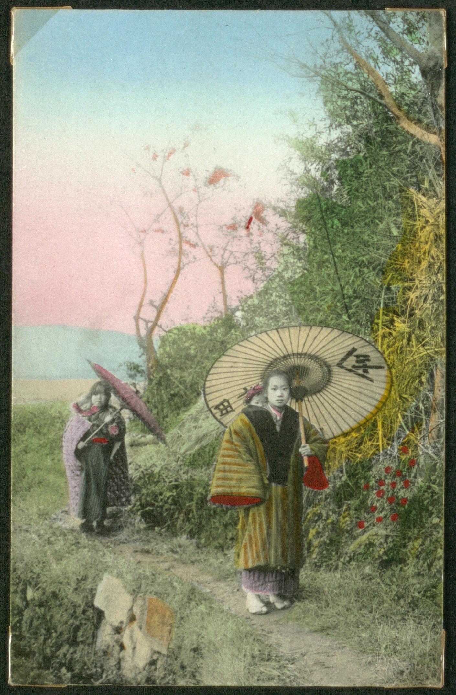 Две женщины с зонтиками