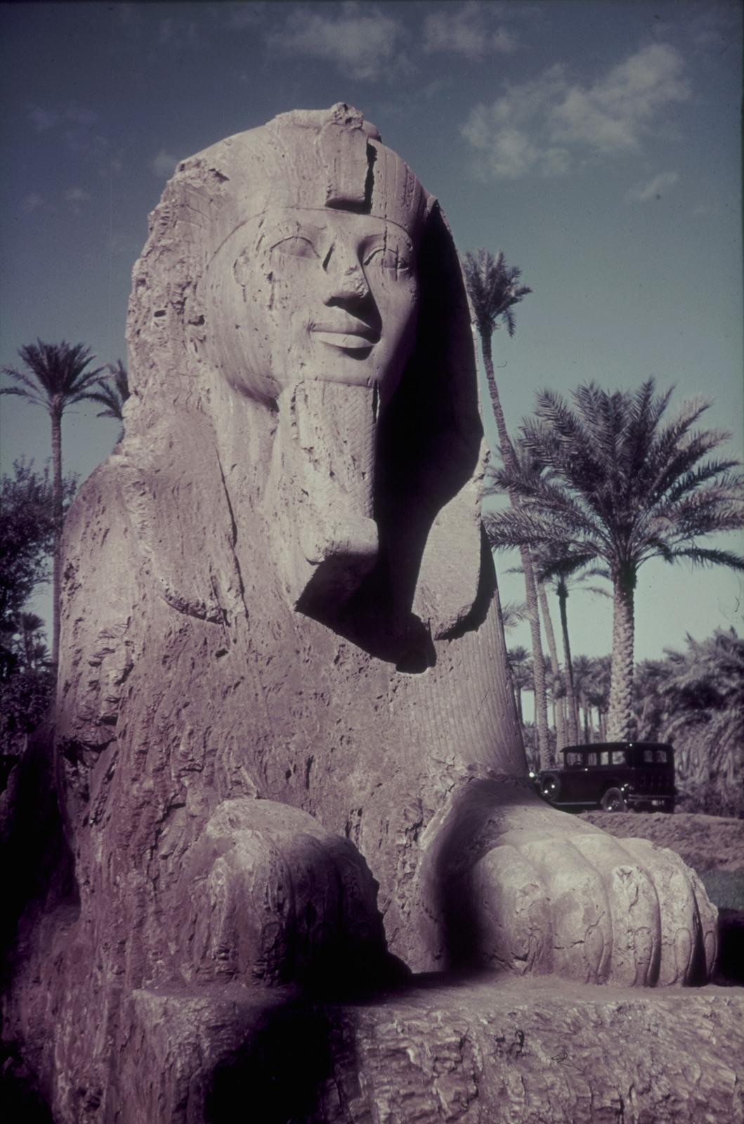 Мемфис. Алебастровый сфинкс храма Птаха. Высота 425 см (1428-1402 гг. До н.э.)