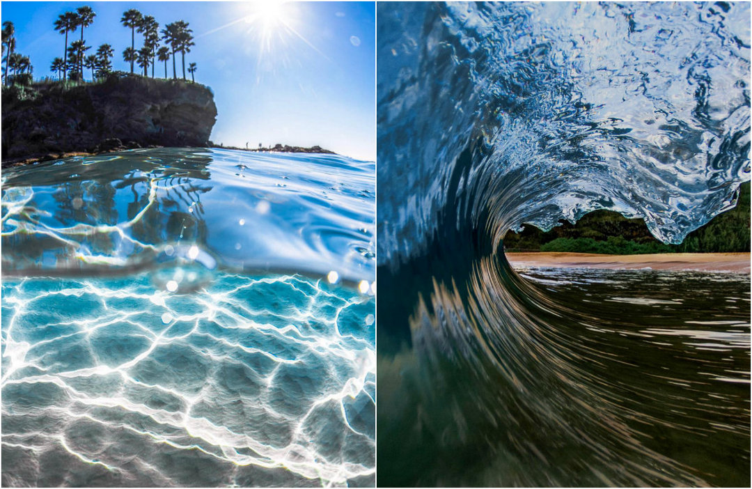 Seascapes and high waves in the pictures of a 15-year-old photographer