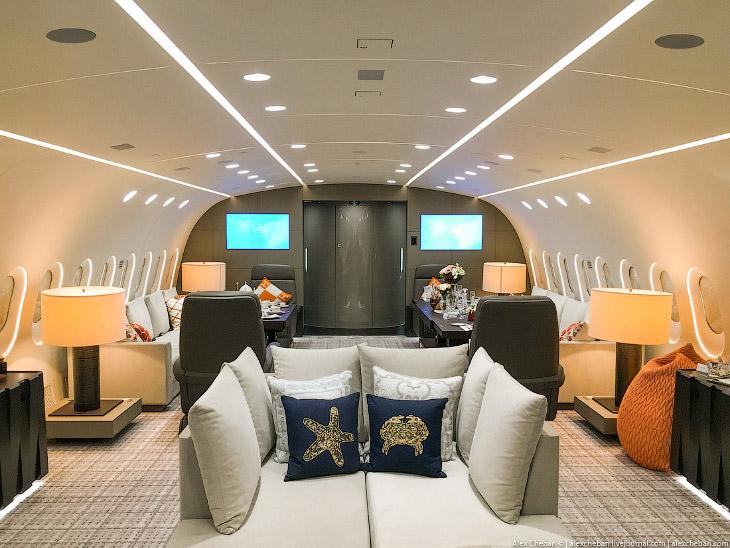 Как выглядит самолет за 70 тысяч долларов в час (17 фото)