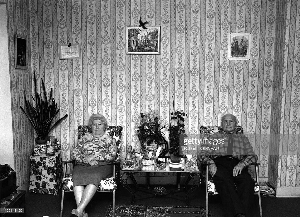 1986. Портрет мадам и господина Коссера в их доме в Сен-Дени