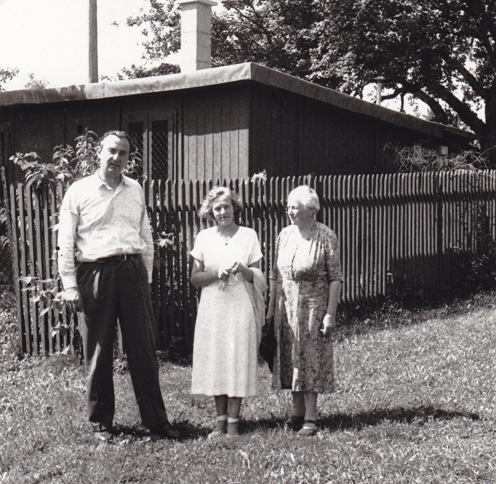 1967. Барон Ульрих фон Гинант с Анастасией и Адель фон Хильдебрандт в Унтерленгенхардте