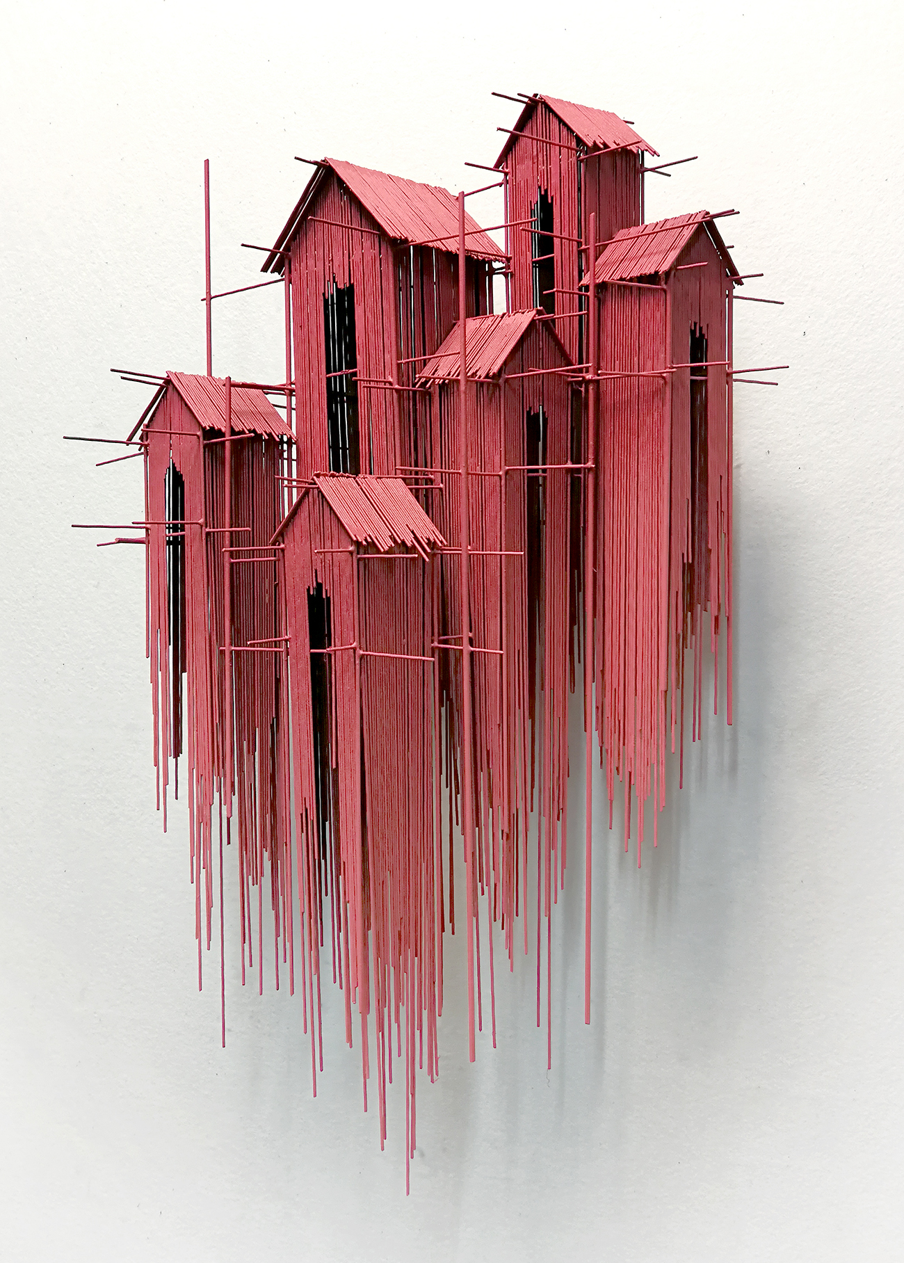 New Architectural Sculptures by David Moreno Appear As Three Dimensional Drawings (8 pics)