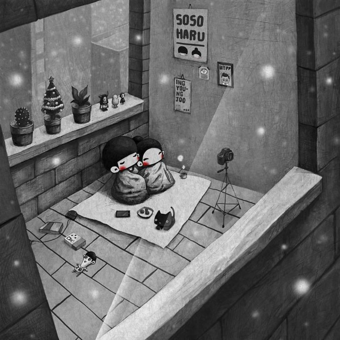 Sweet Love – She illustrates love in the little moments of everyday life (24 pics)