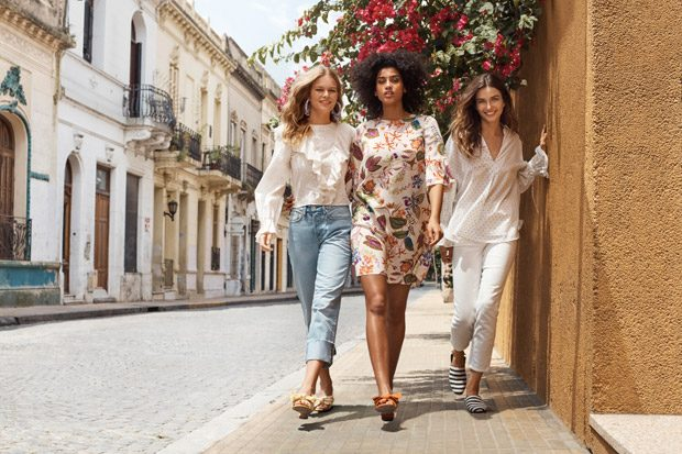 Andreea Diaconu, Anna Ewers & Imaan Hammam Model H&M SS18 Collection