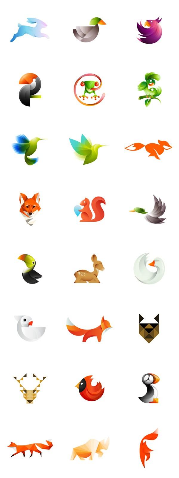 Quando animais viraram logos coloridos