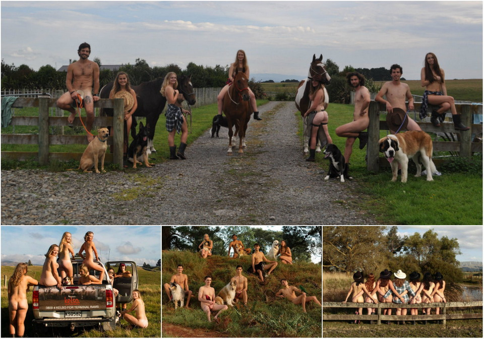 New Zealand veterinary students undressed for a charity calendar